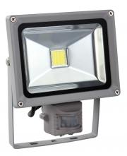 Venkovní LED reflektor 20W, bílá, se senzorem