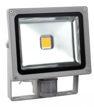 Venkovní LED reflektor 50W, bílá, se senzorem