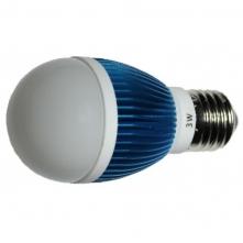 LED 3W, 230V, patice E27, 160lm, modrá