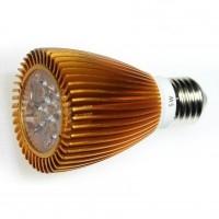 LED 5W, 230V, patice E27, 280lm, zlatá